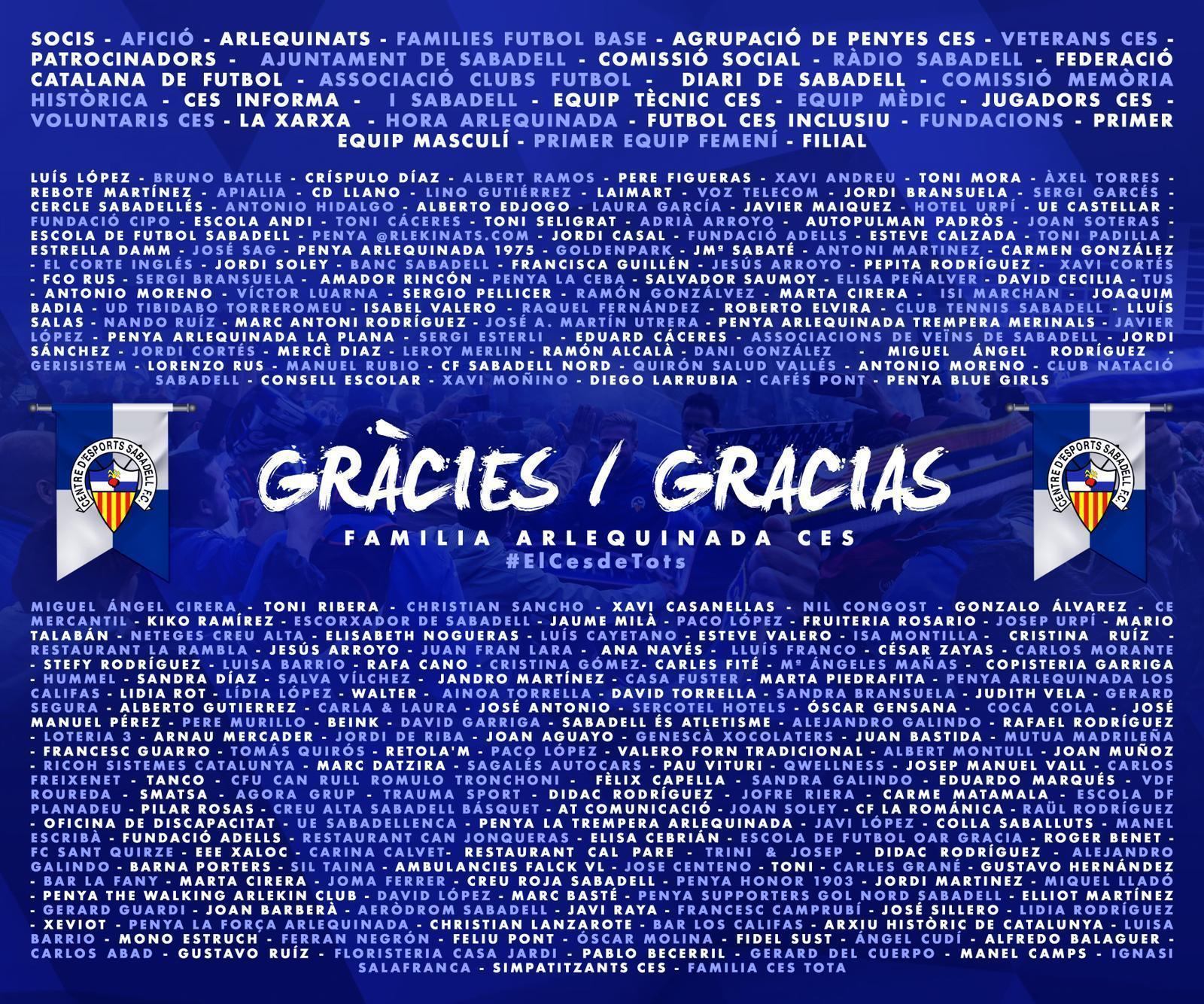 Gràcies! - CE Sabadell