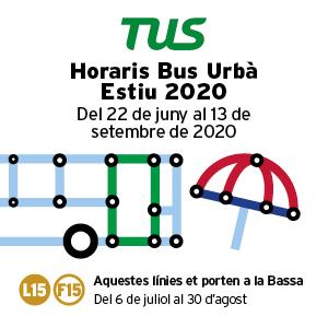 Horaris Bus Urbà Estiu 2020