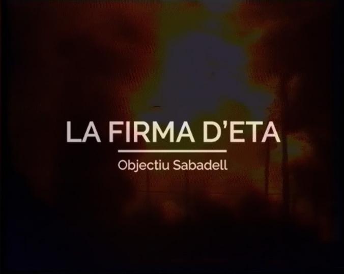 'La firma d'ETA', un documental de Ràdio Sabadell