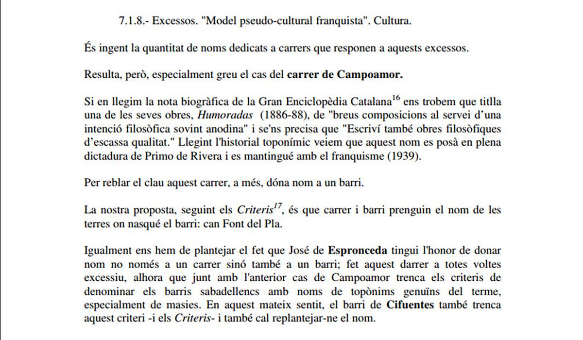 Fragment de l'article sobre Espronceda i Campoamor