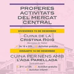 Activitats Mercat Central desembre 2017