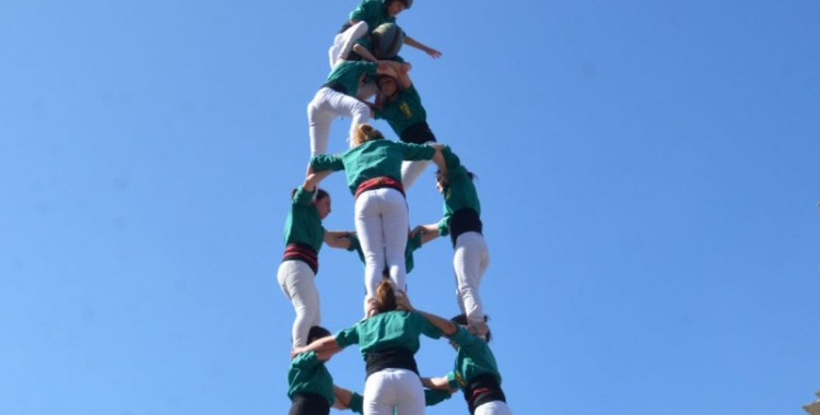 Els Saballuts han descarregat el 4d8 aquest cap de setmana/ Castellers de Sabadell