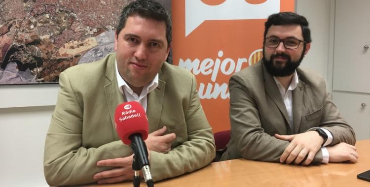 Els regidors José Luis Fernández i Ramón García en roda de premsa