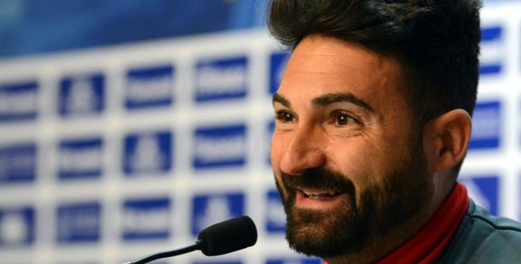 Guillermo Romo durant la roda de premsa prèvia al partit de diumenge