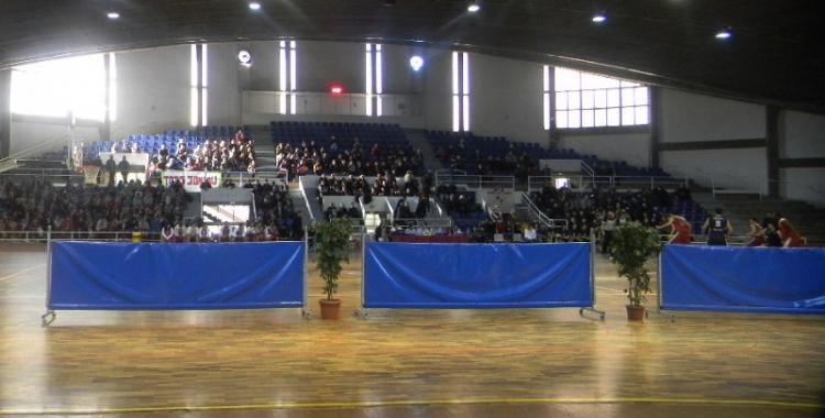 El Pavelló Municipal d'Esports de Sol i Padrís en una competició   Arxiu