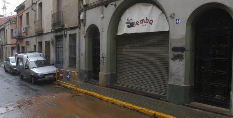 Imatge de l'entrada del bar Bemba