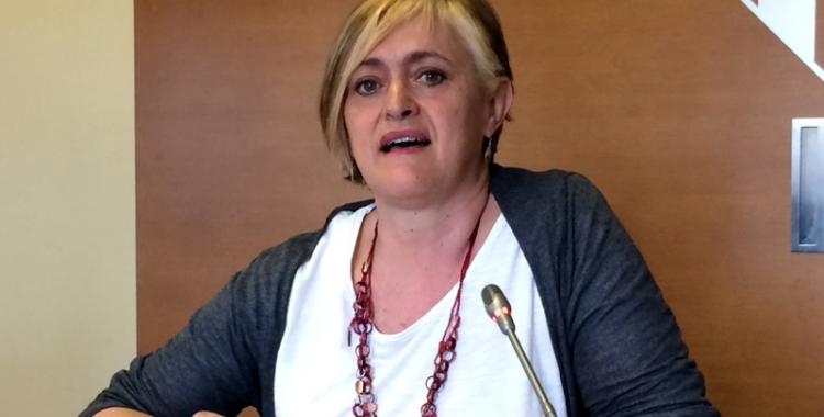 Marisol Martínez aquest migdia en roda de premsa