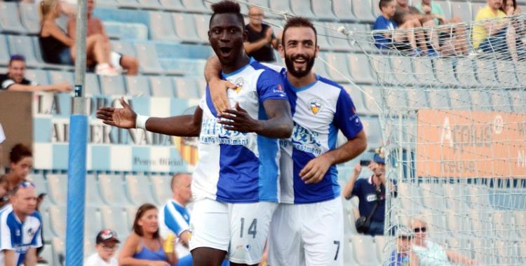 Cheikh Saad va fer un gol durant la pretemporada amb el Centre d'Esports