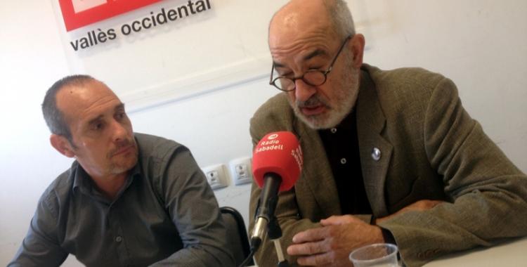 Enrique Rodríguez i Alejandro Ruiz-Huerta a la seu de CCOO de Sabadell. Ràdio Sabadell