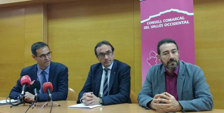 Rull i els presidents dels consells comarcals vallesans/ Karen Madrid
