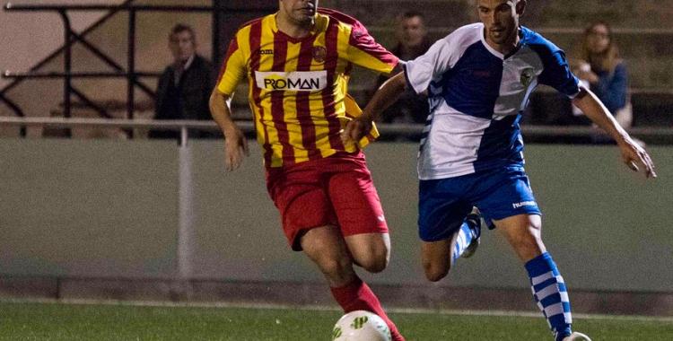 Imatge del partit jugat dijous a Manlleu