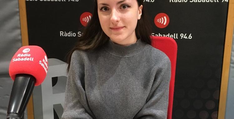 Paula Gallego durant l'entrevista a Ràdio Sabadell