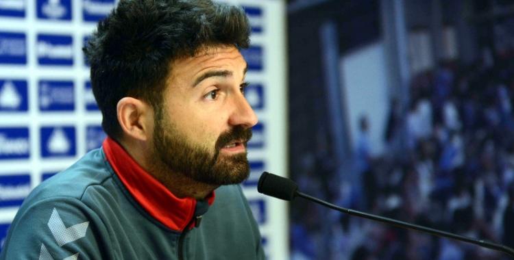 Guillermo Romo durant la roda de premsa d'aquest matí