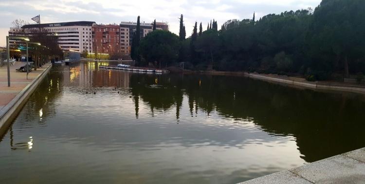 El llac del Parc Catalunya pateix pèrdues d'aigua