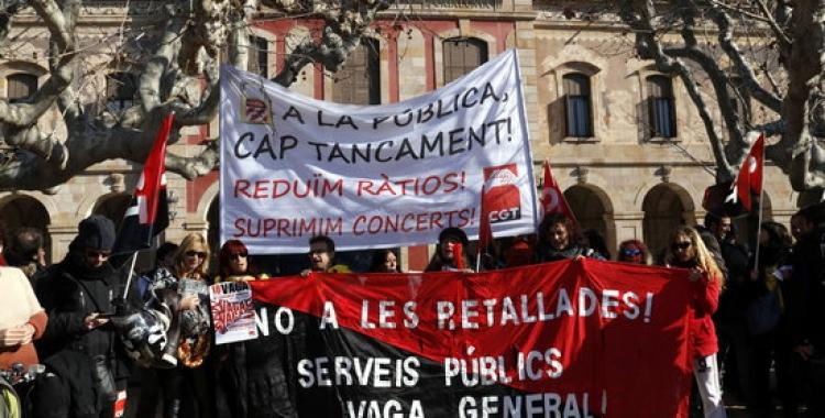 Imatge d'una de les manifestacions a favor de la reducció de ratios