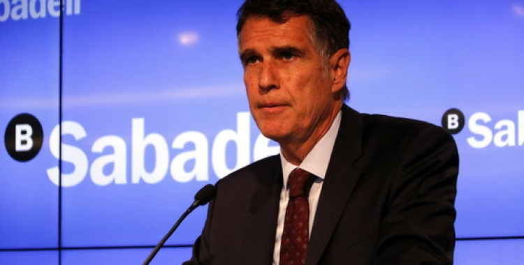 Jaume Guardiola, conseller delegat del Banc Sabadell. Foto: ACN