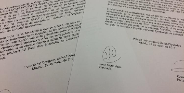 Les peticions realitzades al Tribunal de Comptes