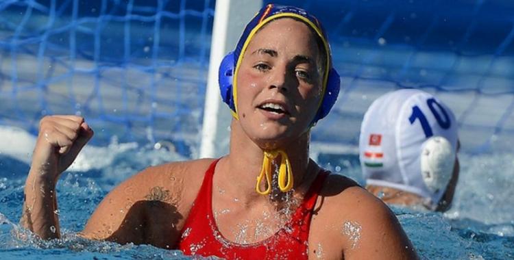 Maica Garcia amb la selecció espanyola