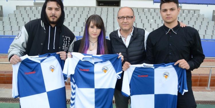 Antoni Reguant, president del Sabadell, amb alguns dels membres de la nova secció | Roger Benet (CES)