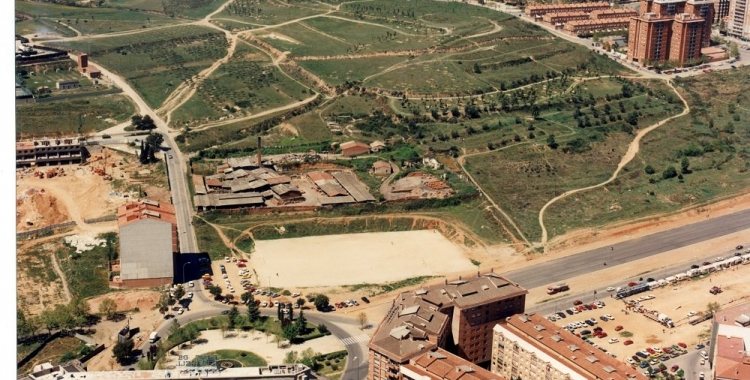 Imatge aèria del Parc Catalunya abans d'urbanitzar.  Foto: Sabadell Territori