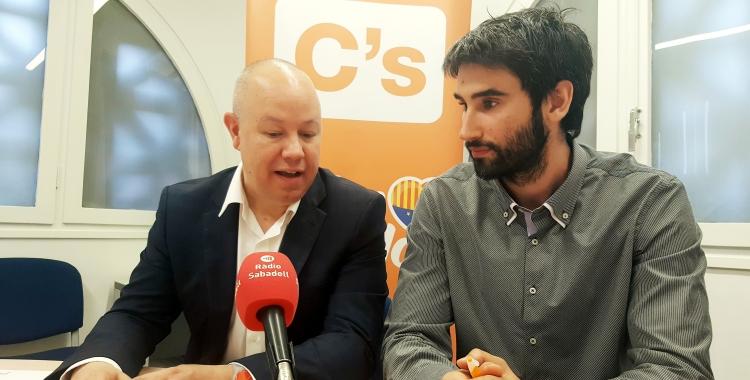 D'esquerra a dreta: Joan García i Sergio Salcedo