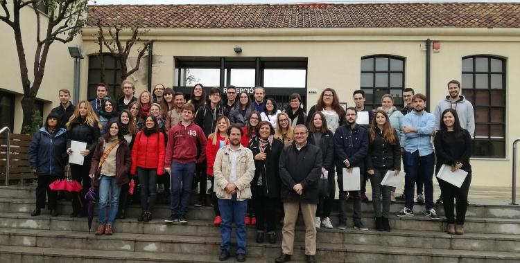 Els participants del darrer Programa de Garantia Juvenil amb el regidor Eduard Navarro | Ajuntament de Sabadell