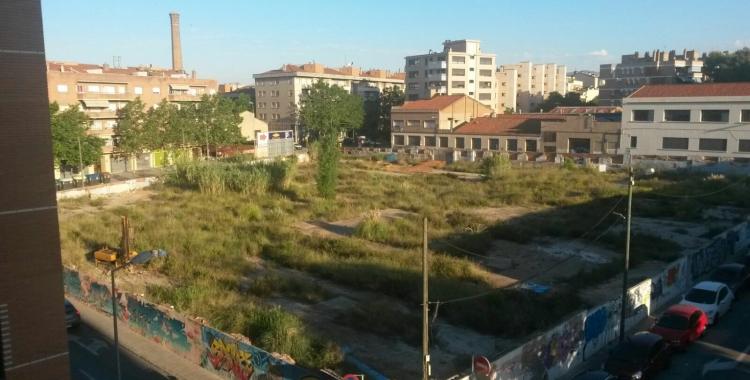 La parcel·la on es farà la primera promoció d'habitatges