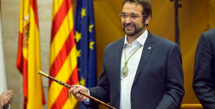 L'alcalde Juli Fernández el dia de l'investidura | Juanma Peláez