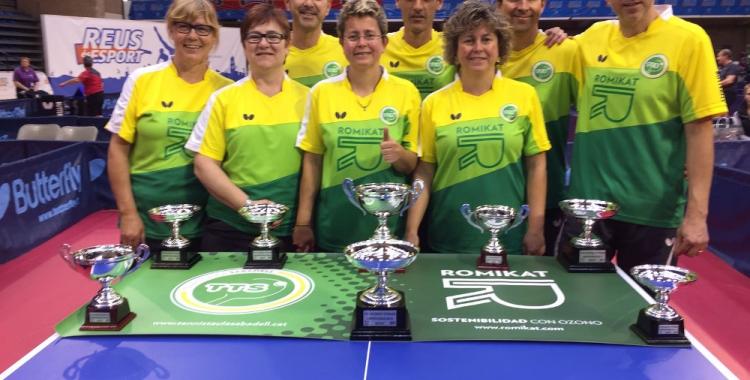 El Tennis Taula Sabadell ha estat un dels protagonistes de l'Estatal
