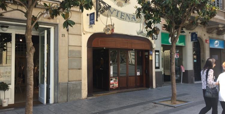 Entrada de l'actual Viena a plaça Sant Roc