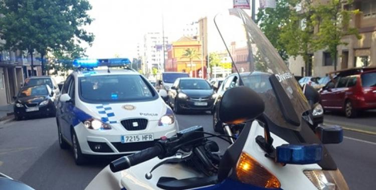 Imatge del segon accident al carrer Alfons Sala. Foto: Policia Municiapal