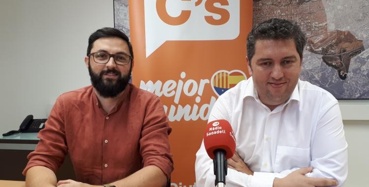 Fernández (dreta) i Garcia, en roda de premsa/ Karen Madrid