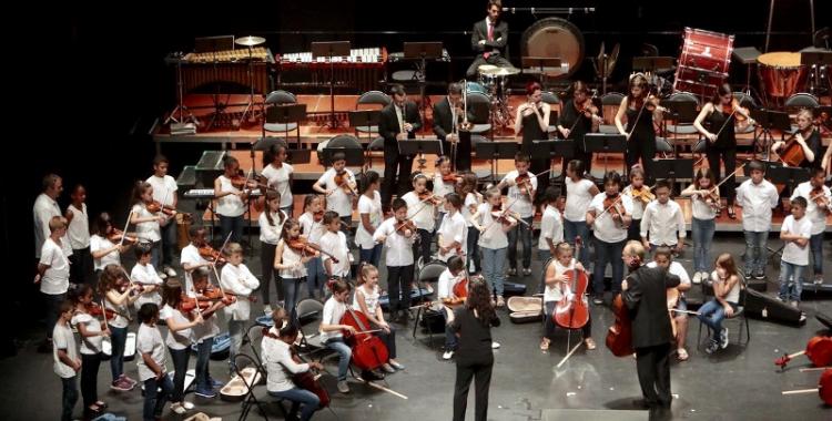 Imatge del concert de cloenda del projecte A-cordant