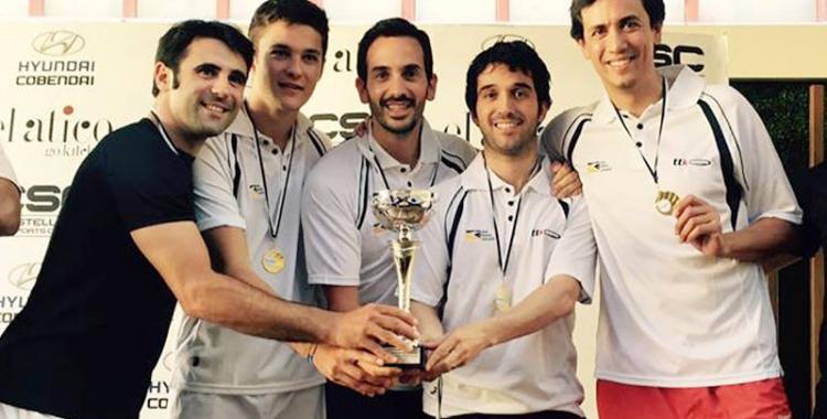 Els sabadellencs ja van proclamar-se campions d'Espanya l'any passat a Madrid   Squash.cat