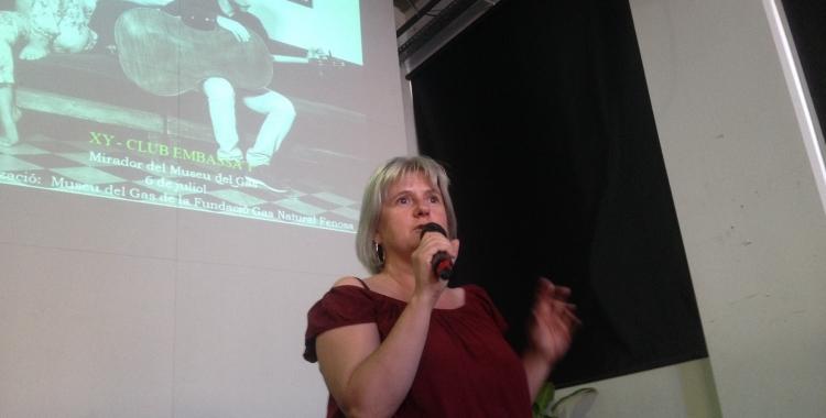 Montserrat Chachón, regidora de cultura, durant l'acte de presentació del Festival 30 nits i més. Foto: Ràdio Sabadell