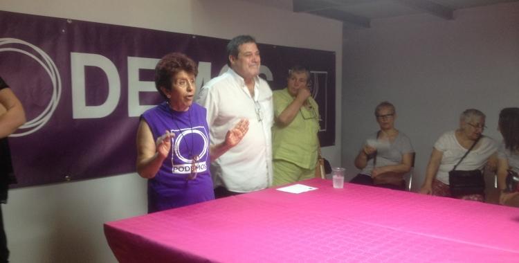 Presentació de la nova seu de Podem. Foto: Ràdio Sabadell