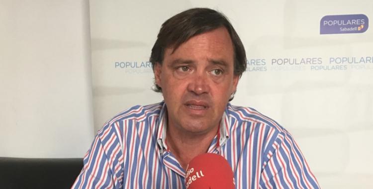 El portaveu del PP, Esteban Gesa, en roda de premsa   Mireia Sans