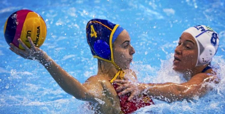 Bea Ortiz en una imatge del passat Europeu davant Itàlia   Imago Sportfotodienst