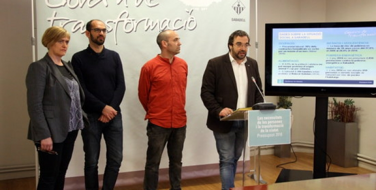 Marisol Martínez, Maties Serracant, Joan Berlanga i Juli Fernández, març 2016. Foto: ACN