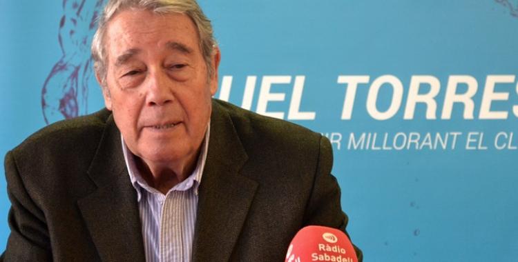 Miquel Torres en l'anterior campanya electoral