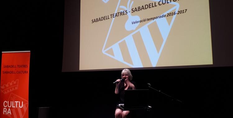 Montse Chacón ha fet balanç de la temporada als teatres municipals/ Karen Madrid