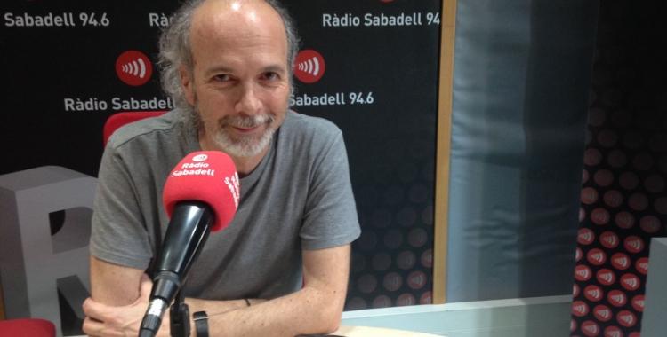 Jordi Fité durant l'entrevista del Desperta Sabadell. Foto: Raquel Garcia