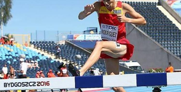 Alexis Rodríguez en un moment de la prova a Polònia