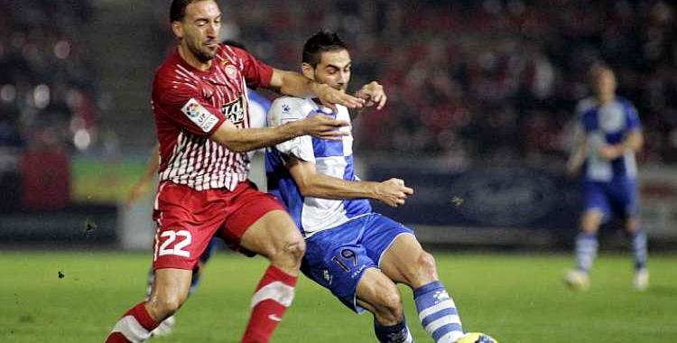 Migue enfrontant-se al Sabadell durant la seva etapa al Girona | David Borrat (Marca)