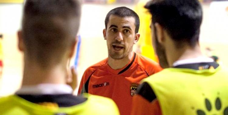 Borja Burgos entrenant el FS Castellar | Albert San Andrés (L'Actual)