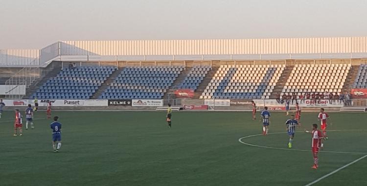 Imatge del partit entre el Figueres i el Sabadell de Copa Catalunya