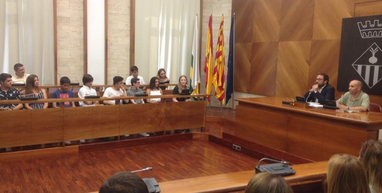 Recepció dels alumnes de Sabadell amb millors notes de la selectivitat.