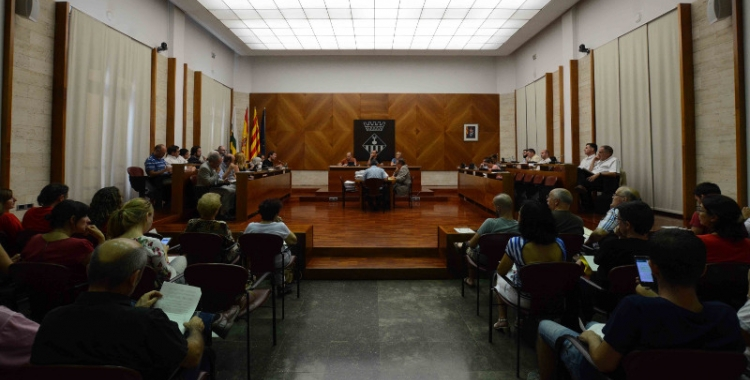 Maties Serracant ha presidit avui la seva primera sessió plenària com a alcalde   Roger Benet
