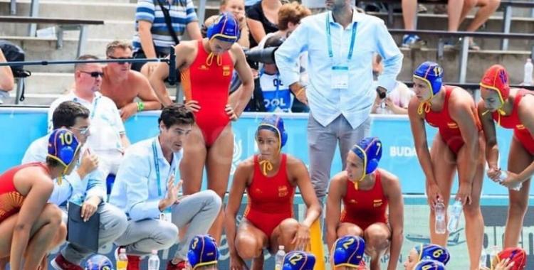 La selecció espanyola femenina de waterpolo medalla de plata al Mundial