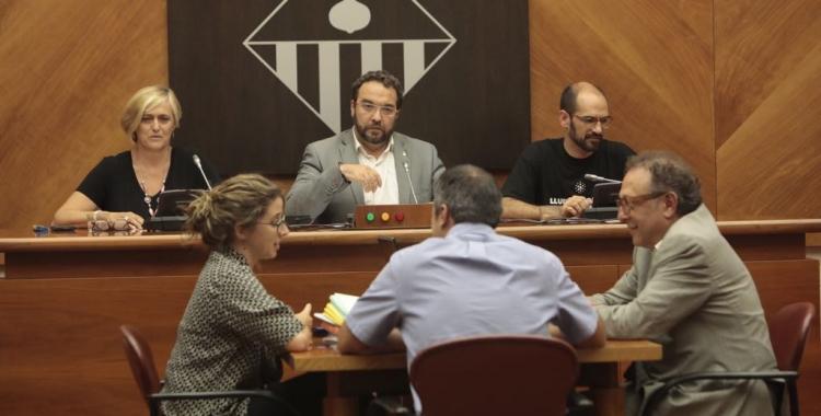 imatge del ple extraordinari de renúncia Juli Fernàndez. Foto: Juanma Peláez